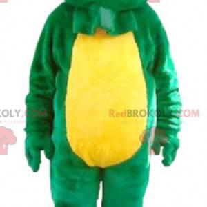 Green and yellow frog mascot - Redbrokoly.com