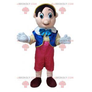 Mascote Pinóquio famoso personagem de desenho animado -