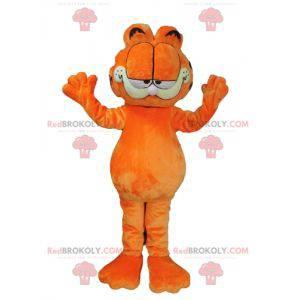 Mascote Garfield famoso desenho animado gato laranja -