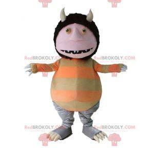 Strange Creature Goblin Gnome Mascot With Horns - Redbrokoly.com