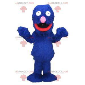 Mascote de Grover famoso monstro azul da Rua Sésamo -