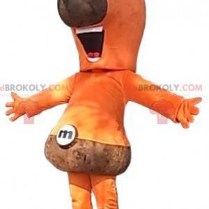 Oranžový a hnědý maskot sněhuláka - Redbrokoly.com