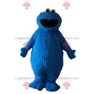 Blå marionet behåret monster Elmo maskot - Redbrokoly.com