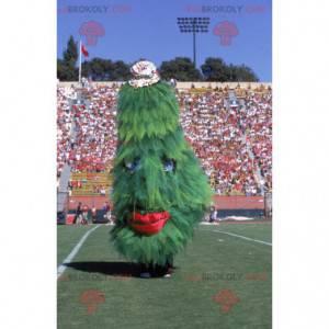 Giant green and red Christmas tree mascot - Redbrokoly.com
