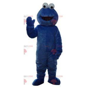 Elmo mascota famosa marioneta azul de Barrio Sésamo -