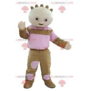 Maskotka lalka brązowy i różowy - Redbrokoly.com