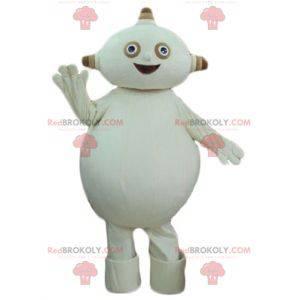 Pralles und lustiges beige Alien-Maskottchen - Redbrokoly.com