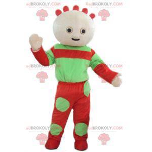 Zelené a červené miminko maskot - Redbrokoly.com