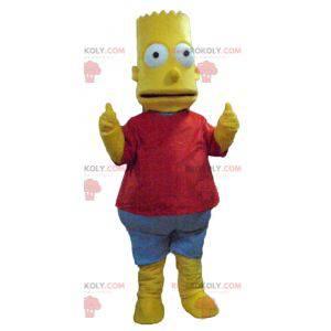 Bart Simpson mascotte famoso personaggio dei cartoni animati -