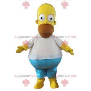Homer Simpson mascotte famoso personaggio dei cartoni animati -