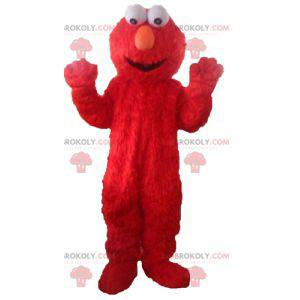 Mascot Elmo, el famoso títere rojo de Barrio Sésamo -
