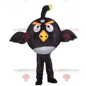 Velký černobílý maskot ptáků ze slavné hry Angry Birds -