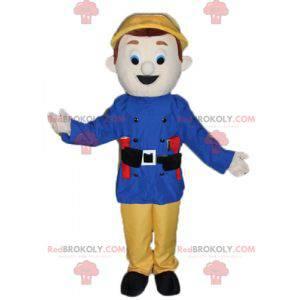 Firefighter guard man mascot - Redbrokoly.com
