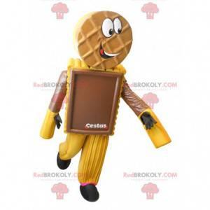 Schokoladenplätzchenkuchen-Maskottchen - Redbrokoly.com