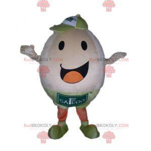 Bardzo uśmiechnięta i wesoła maskotka gigant jajko -