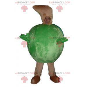 Obří zelené jablko maskot dokola - Redbrokoly.com