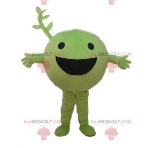 Veldig smilende grønn vegetabilsk frukt erte maskot -