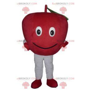 Obří a usměvavý maskot červené jablko - Redbrokoly.com