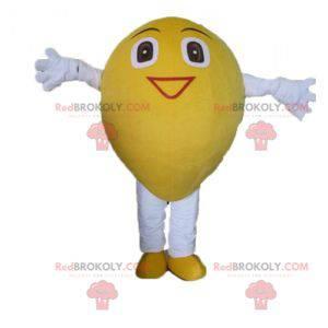 Giant and smiling yellow lemon mascot - Redbrokoly.com