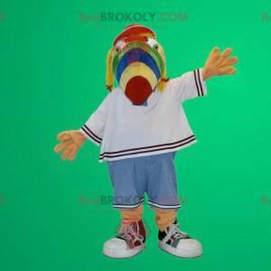 Vícebarevný papoušek pes maskot - Redbrokoly.com