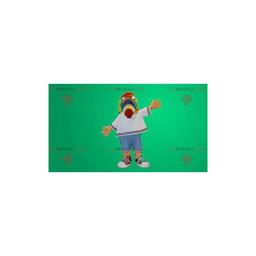 Multicolored parrot dog mascot - Redbrokoly.com