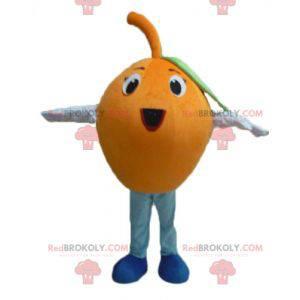 Maskotka gigantyczny pomarańczowy okrągły i zabawny -