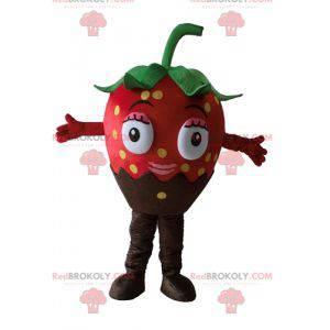 Sehr schönes und appetitliches Schokoladen-Erdbeer-Maskottchen