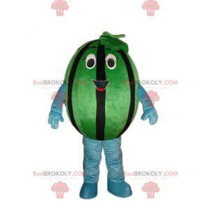 Obří zelený a černý meloun maskot - Redbrokoly.com