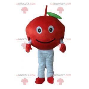 Cute and smiling red cherry mascot - Redbrokoly.com