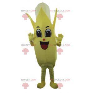 Obří žlutý a bílý banán maskot - Redbrokoly.com