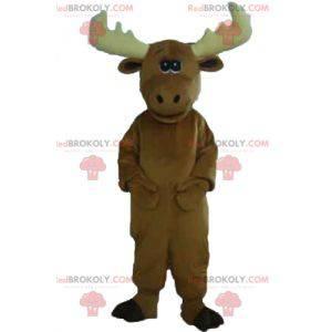 Very cute and impressive brown caribou elk mascot -