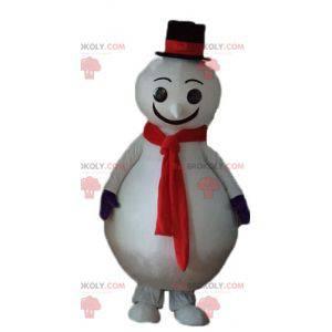 Big red and black snowman mascot - Redbrokoly.com