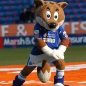 Brązowy lis maskotka w odzieży sportowej - Redbrokoly.com