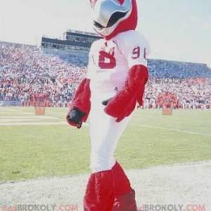 Maskot červený orel v bílém sportovním oblečení - Redbrokoly.com