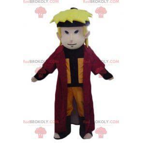 Manga character samurai blond boy mascot - Redbrokoly.com