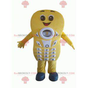 Giant and smiling yellow cell phone mascot - Redbrokoly.com