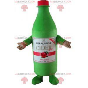 Riesiges grünes Apfelweinflaschenmaskottchen - Redbrokoly.com