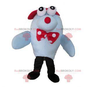 Mascote foca leão-marinho azul - Redbrokoly.com