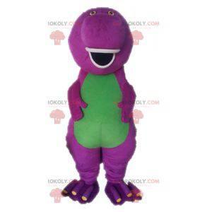 Mascota de dinosaurio púrpura de dibujos animados famosos de