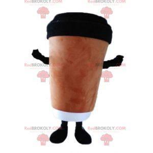 Coffee cup mascot. Hot drink mascot - Redbrokoly.com