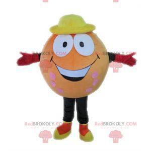 Orange Ball Maskottchen. Riesiges orange Maskottchen -