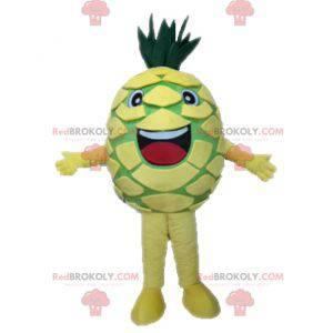 Obří žlutý a zelený ananasový maskot. Maskot ovoce -