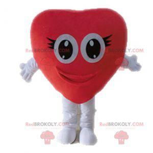 Maskot obří červené srdce. Romantický maskot - Redbrokoly.com