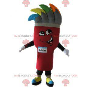 Giant brush mascot. Painting mascot - Redbrokoly.com
