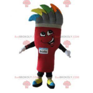 Kjempebørste maskot. Maling maskot - Redbrokoly.com