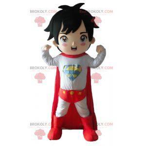 Maskot chlapec oblečený v oblečení superhrdiny - Redbrokoly.com