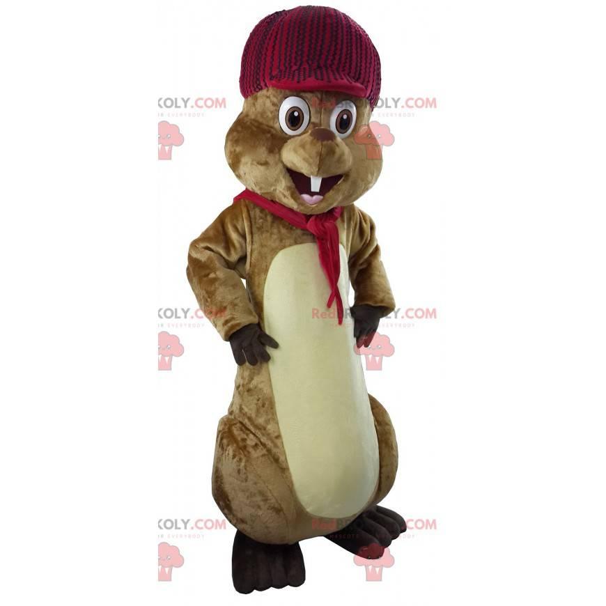 Docela hnědý svišť maskot - Redbrokoly.com