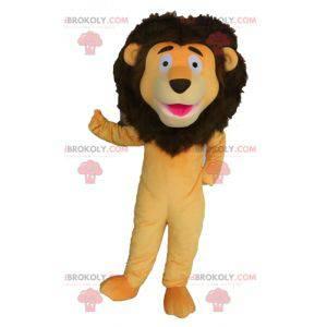 Kjempe oransje og brun løve maskot - Redbrokoly.com