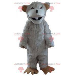 Big hairy white rat mascot - Redbrokoly.com