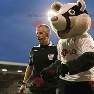 Waschbär Panda Bär Maskottchen in Sportbekleidung -